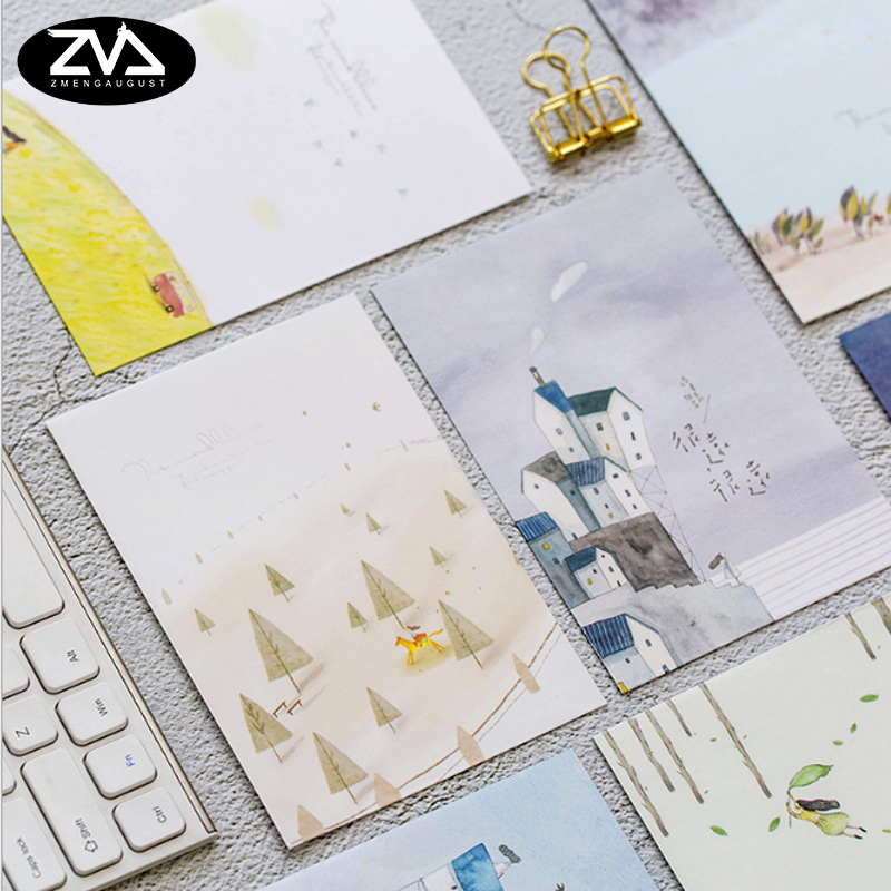 5pcs/lot Creative Decoration Paper Envelope Writing Paper Stationery Kawaii Birthday Christmas Card Envelopes School Supplies