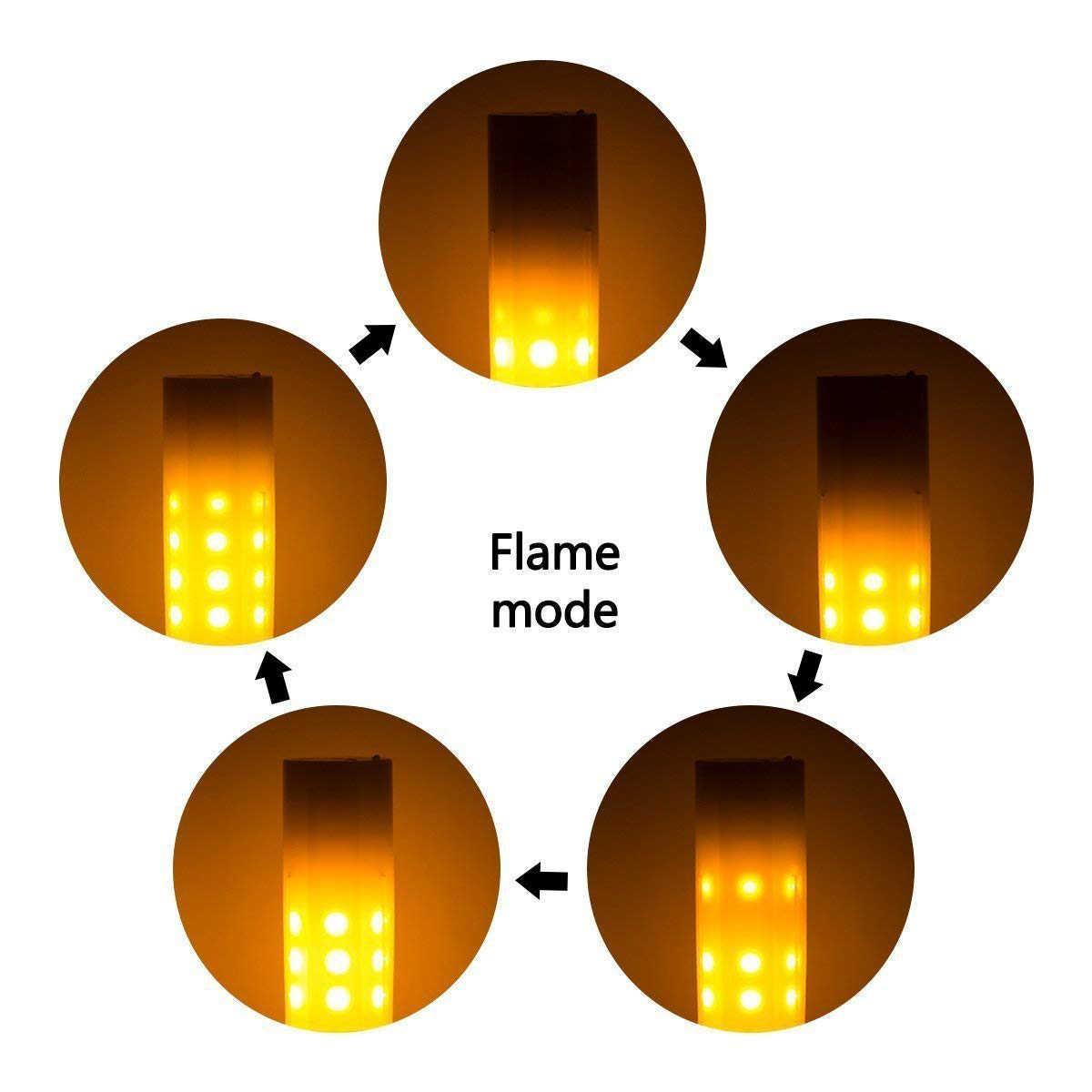 2Pcs 3W 230 Lm G4 LED Lampu 36 LED SMD 2835 Api Efek Hangat Putih DC 12V (Hangat Putih DC12V)