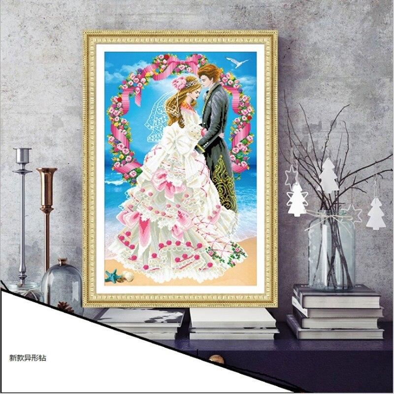 3D DIY Diamond Výšivka, 5D Diamantová malba, Diamonds mozaika Svatba Láska plný drahokamu přes steh, Vánoce, výzdoba, dárek