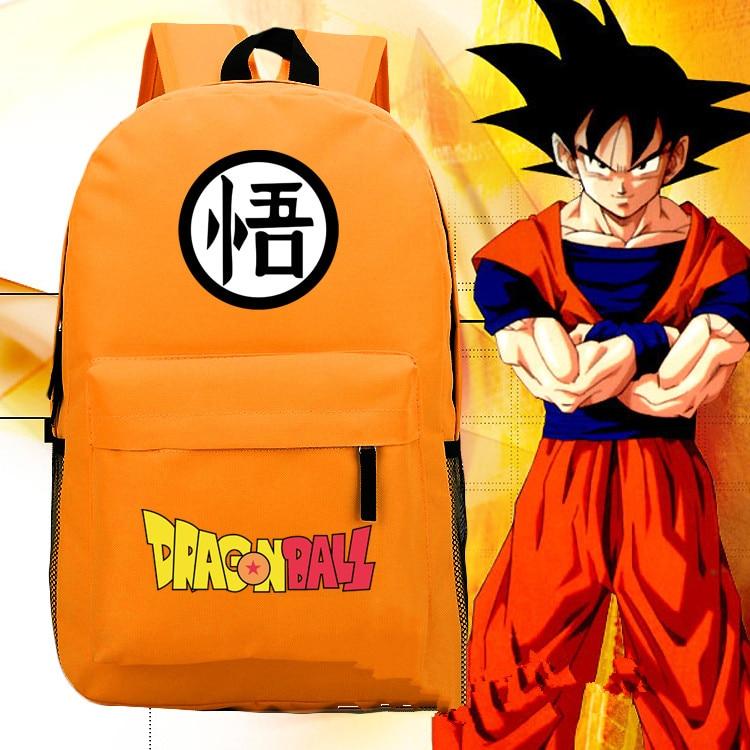 Japan Anime Dragon Ball Z Son Goku Backpack Shoulder Bag Yellow Package 45x30x13cm