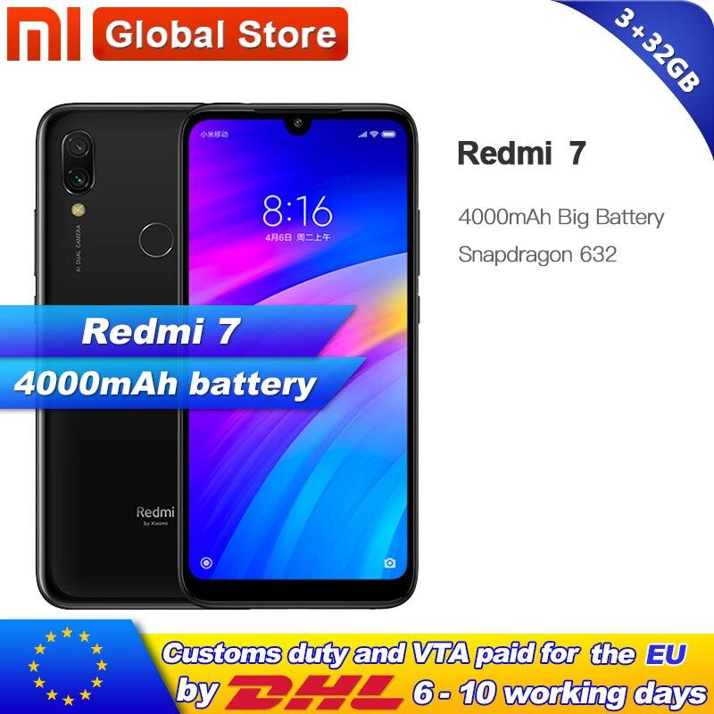 Xiaomi Redmi 7 3GB 32GB RAM ROM Smartphone Qualcomm Snapdragon 632 Octa Core Mobile phone 4000mAh