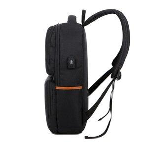 Image 3 - Kính Cận Unisex New Thời Trang Kinh Doanh Du Lịch USB Ba Lô Laptop Canvas Túi Máy Tính Lớn Dung Tích Ba Lô Nam Nữ Hành Lý