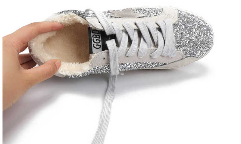 ... zeeohh New Sneakers Shoes Women Leather Do Old Dirty Shoes Retro Star  Sequins Women Casual Trainers ... 0560175ffe63