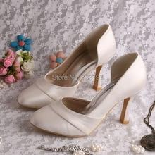 Wedopusที่กำหนดเองแฮนด์เมดง่ายๆรองเท้า9เซนติเมตรส้นสำหรับงานแต่งงานปิดนิ้วเท้า