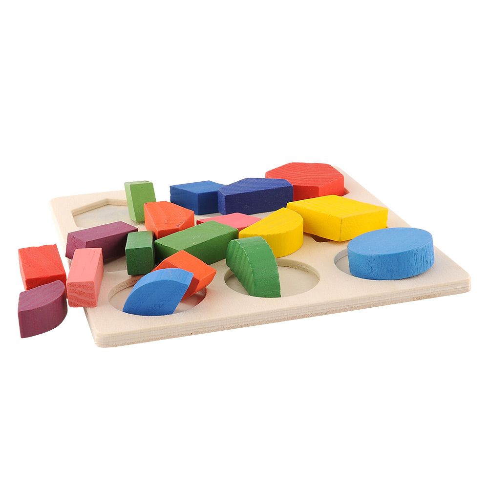 Baby Wooden Building Block Montessori Early Educational Toys Intellectual Geometry Toy 7