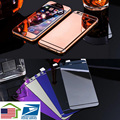 USA stocks 2Pcs/Lot 3D Tempered Glass Front and Back Bright Mirror Armor Screen Protective Skin Film For Apple iPhone 6 6S 6Plus