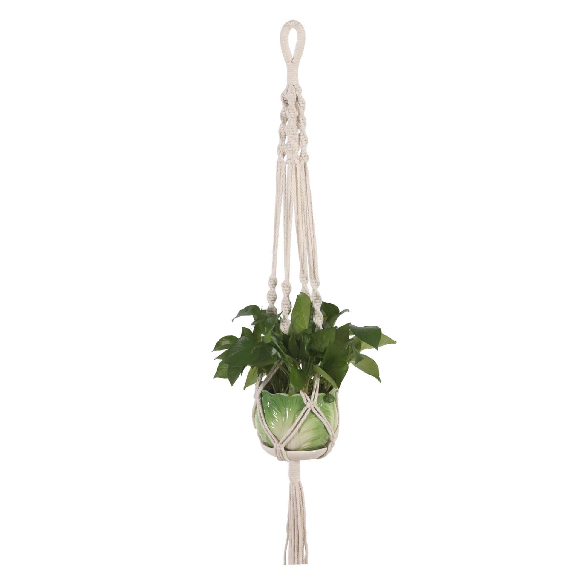 Macrame Planta Cabides Conjunto de 4 Interior Parede Plantador de Suspensão Cesta Titular Vaso de Flores Boho Caixa de Presente Decoração Da Sua Casa