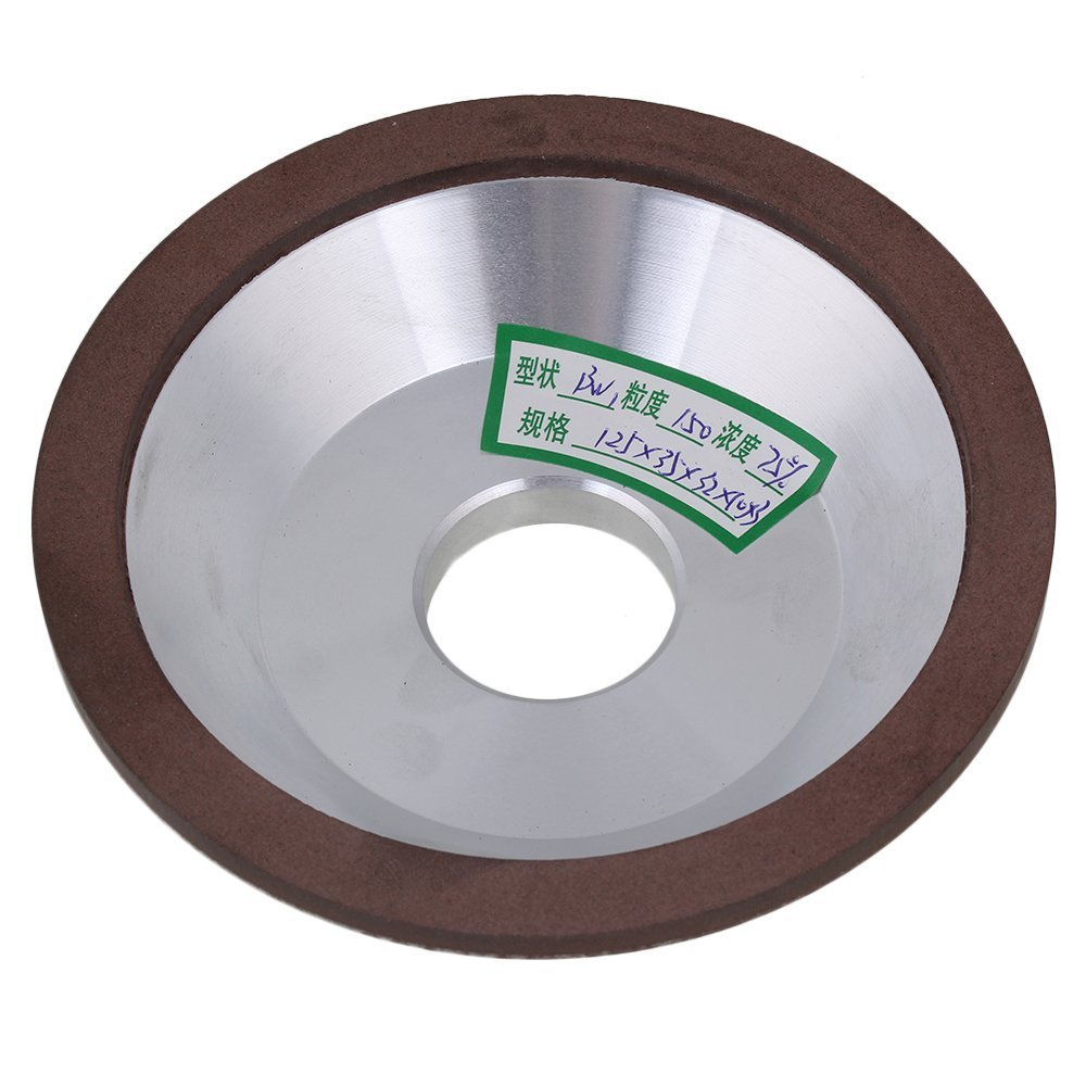 150# Grit Cup Bowl Shape Silver 125x35x32X10mm Diamond Aluminum Resin Grinder Grinding Wheel Cutter Cutting Tool With
