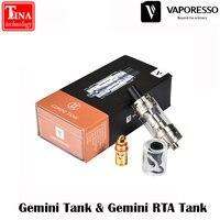 100 Original Vaporesso Gemini Tank Gemini RTA Top Filled Tank With Velocity Style Deck Gemini Tank