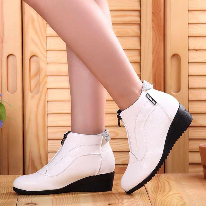 Winter Boots Women 2019 Women Snow Boots Wedge Heels Winter Shoes Women Warm Fur Casual Shoes Zip Women's Shoes Botas Mujer Shoes Women's Shoes
