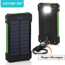 Top Solar Power Bank Waterproof 30000mAh Solar Charger 2 USB