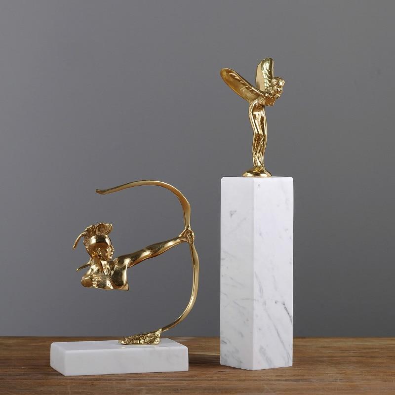 Luxury Pure Copper Home Decorations Modern Minimalist Study Decoration Ornaments Luxury Archers