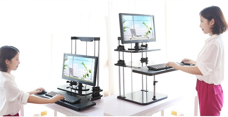 Sit/Stand Desk Riser Three Level Height Adjustable Lightweight Standing Laptop Desk Notebook/Monitor Holder Stand DLJ03 чайный набор mayer&boch mb 24729