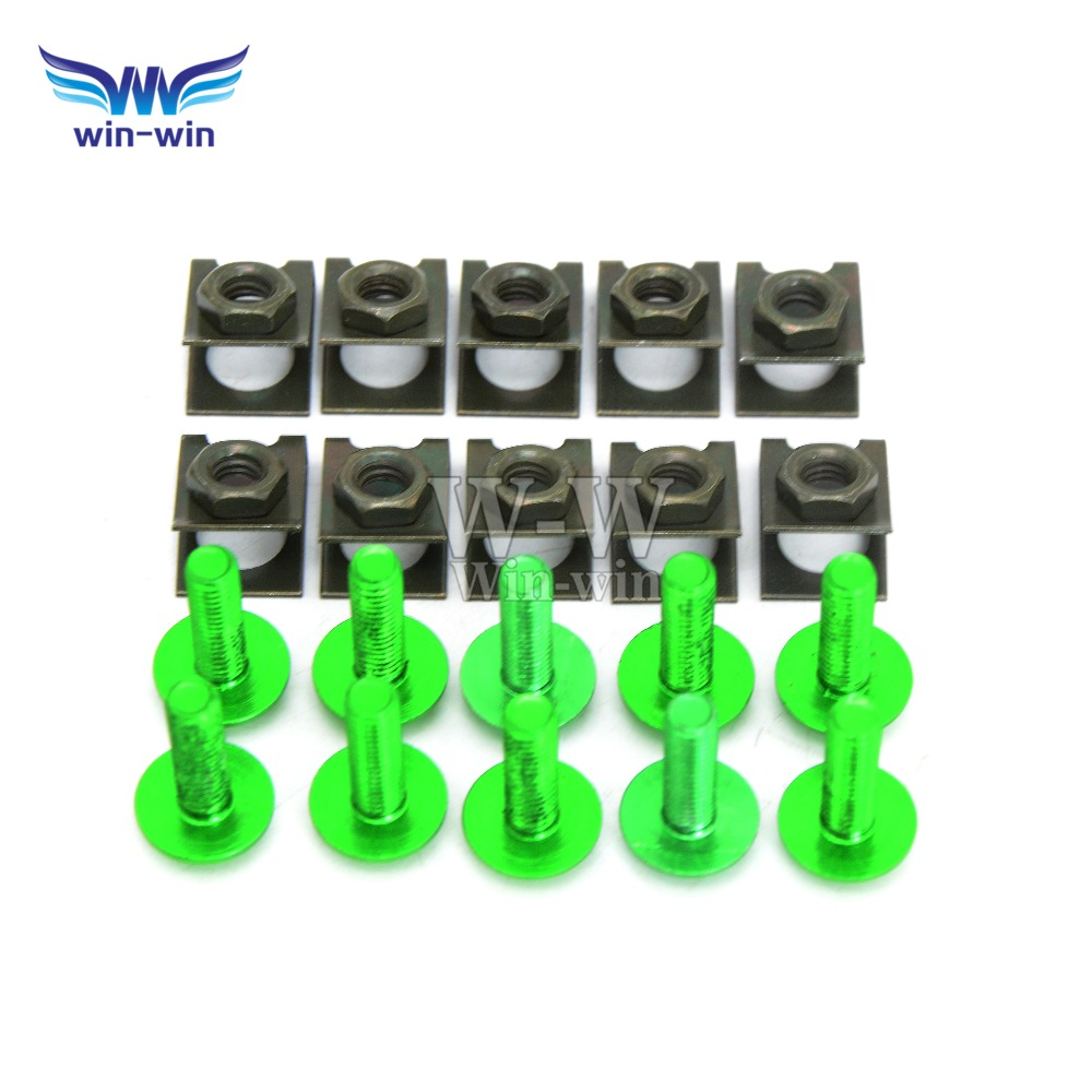 10 pcs CNC motorcycle parts fairing bolts screws for Kawasaki ZX6R / 636 2007 - 2015 2008 2009 2010 2011 2012 ZX10R 2006 - 2015