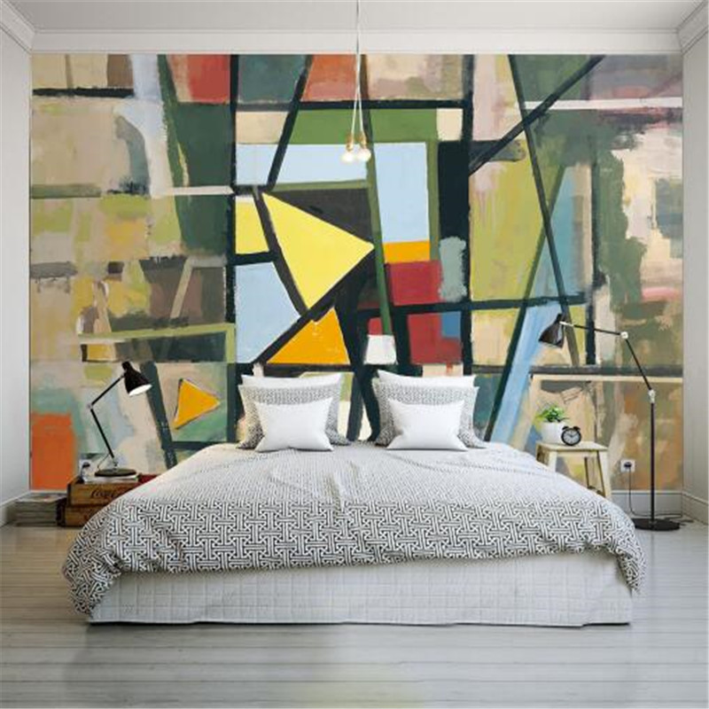 Us 24 49 30 Off Graffiti Modern Wallpaper For Walls 3d Wall Murals Photo Wallpapers Creative Geometric Wall Papers Home Decor For Living Room Tv In