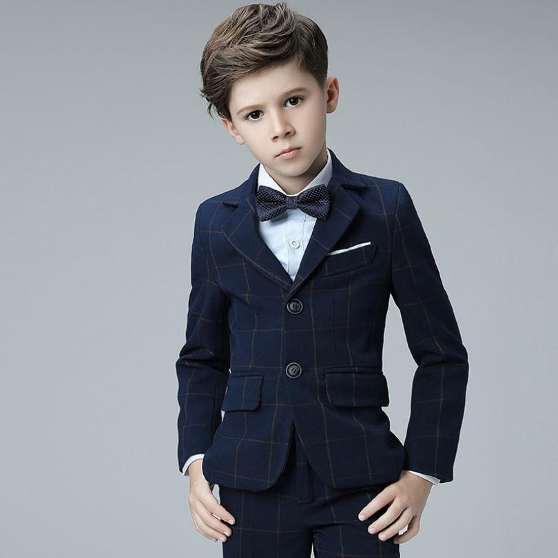 High-end Baby Boys Blazer Sets for Weddings Party Prom Suits Kids Tuexdo Children Clothing Set Boy Formal Classic Costume Y951High-end Baby Boys Blazer Sets for Weddings Party Prom Suits Kids Tuexdo Children Clothing Set Boy Formal Classic Costume Y951