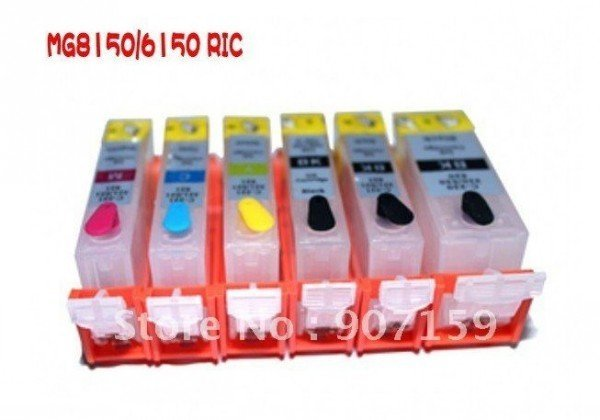 Free shipping (6colors/set) PGI-525/CLI-526 refillable ink cartridge with ARC for MG8150/MG6150 ; 5sets/lot