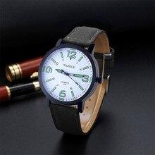 YAZOLE Ceasuri 시계 남자 시계 톱 브랜드 럭셔리 Hodinky 남성 시계 패션 남자 가죽 아날로그 쿼츠 시계 Erkek 콜 Saat