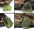 Venda quente Um ++ aerólitos verde Moldavita Natural de cristal pingente de pedra energia apotropaic4g-6g/lot + livre Colar de corda Única