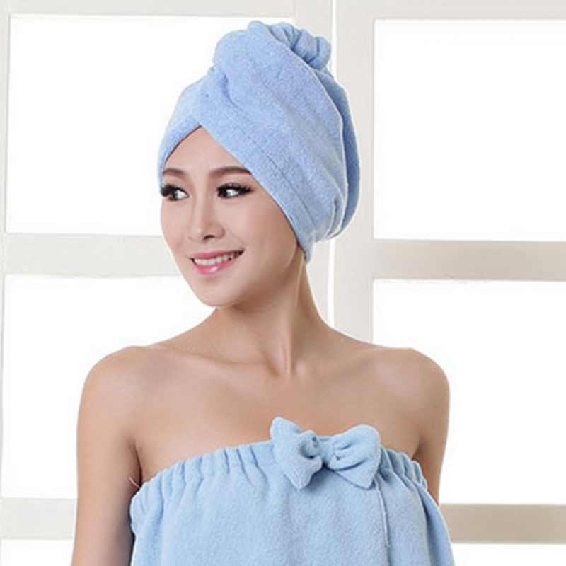 DIDIHOU kształt fali kobiety łazienka Super chłonne ręczniki szybkoschnący ręcznik kąpielowy z mikrofibry turban do suszenia włosów ręcznik salonowy 25x60 cm