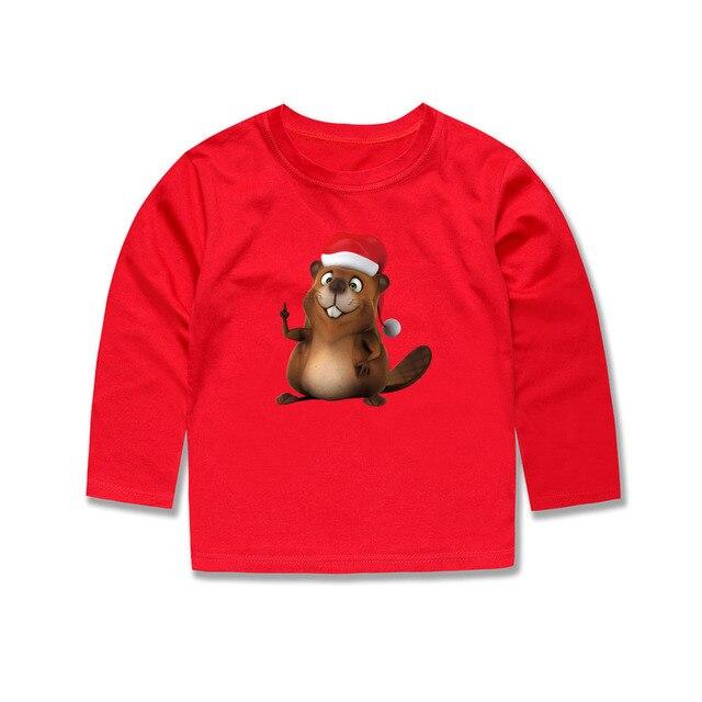 smhong boys girls children cotton t shirts boys girls christmas t shirts kids santa mouse - Girls Christmas Shirts