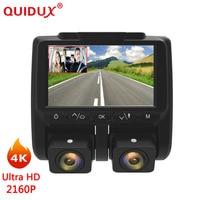 QUIDUX 4K Dashcam Car DVR Camera Novatek 96660 OV4689 Dash Camera HD 2160p Video Registrator Recorder DVRs dual lens Dash Cam