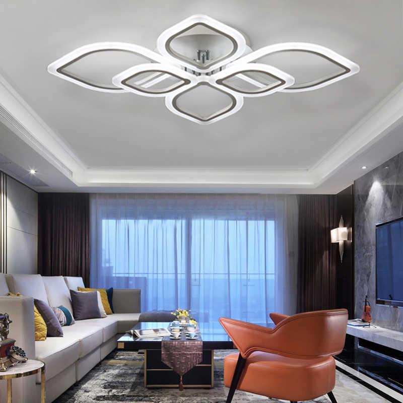 Lustres modernes Led au salon chambre à manger salle à manger acrylique plafonnier lustre maison éclairage intérieur