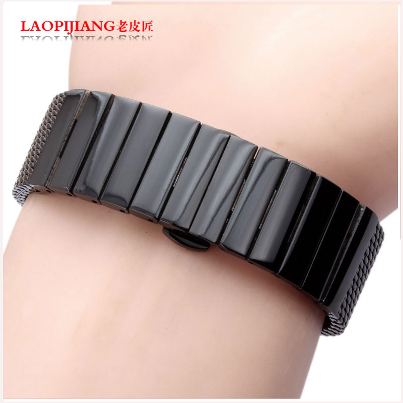 ФОТО The high quality of milan stainless steel strap for hours of 20 mm to 22 mm for men and women black / brown strap band bracelet
