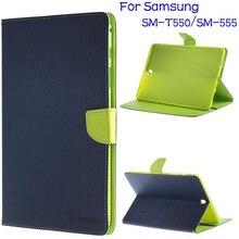 4 en 1 Soporte Ultra-delgado Inteligente Caso de la Cubierta de Cuero para Samsung Galaxy Tab 9.7 T550 T551 T555 Tablet + Protector de Pantalla + Pen + OTG