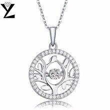 YL Древо жизни 925 стерлингов Серебряные ожерелья Модные Красивые ювелирные изделия топаз Природный камень цена оптовой продажи для Для женщин Танцы партии