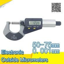 Best Buy Electronic Outside Micrometers 50-75*0.001 Double Function Keys digital caliper