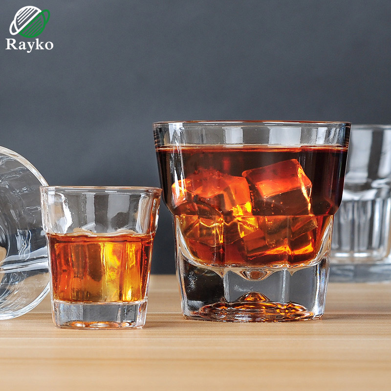 RAYKO Octagon Whisky Beer Glass Cup Drinking Wine Thickening KTV Bar Glass Wedding Glasses For Champagne GL24