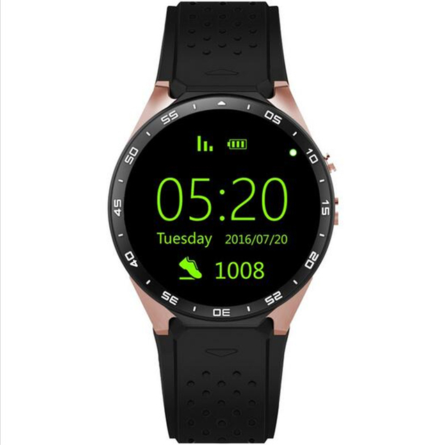 2017 KW88 Android 5.1 Smart Watch Phone MTK6580 quad core 1.3 ГГЦ ROM 4 ГБ + RAM 512 МБ 1.39 дюймов 400*400 Экран с 2.0MP камера