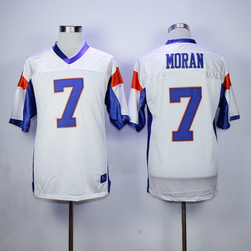 Alex Moran 7 Blue Mountain State Football Movie white Jersey Mens Adult New