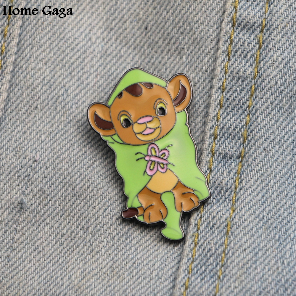 Homegaga The Lion King cartoon Zinc pins para clothes backpack jacket metal medal for shirt badges brooches for men women D0923 in Badges from Home Garden