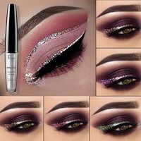 Pudaier glitter eyeliner pencil 16 colors rose diamond gold shimmer liquid eyeliner gel silver purple blue eye liner PD015