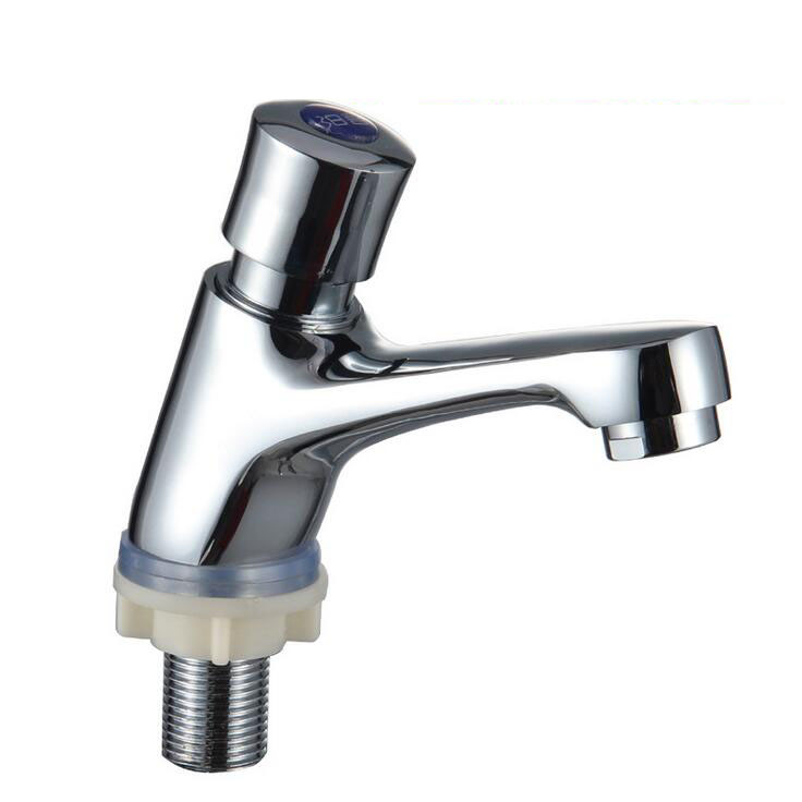 Hand press type sink basin faucet hotel, Public place wash basin ...