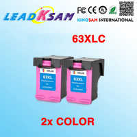 2x cartucho de tinta de color compatible con hp63 63XL DeskJet 1112/2130/2132/3630/3632/Office ejet 3830/4650/465