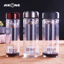 My Water Bottles Borosilicate Glass Water Bottle With Cover and Tea Infuser Double-layer Crystal Glass Tea Bottle Drinkware