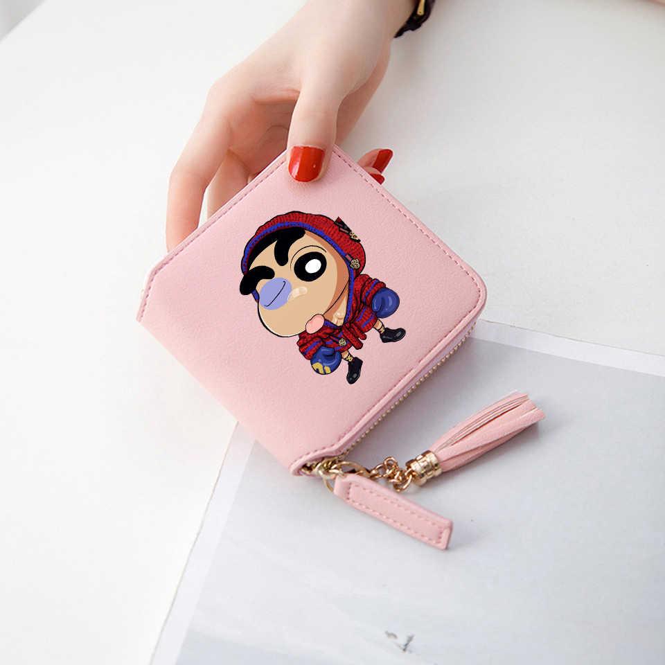 2018 New Style 3d wallet Crayon Shin chan Short Zipper card