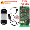 V160 Renault Can Clip with good PCB Board Professional OBD2 Diagnostic Tool Can Clip Scanner For Renault with Multi-Languages