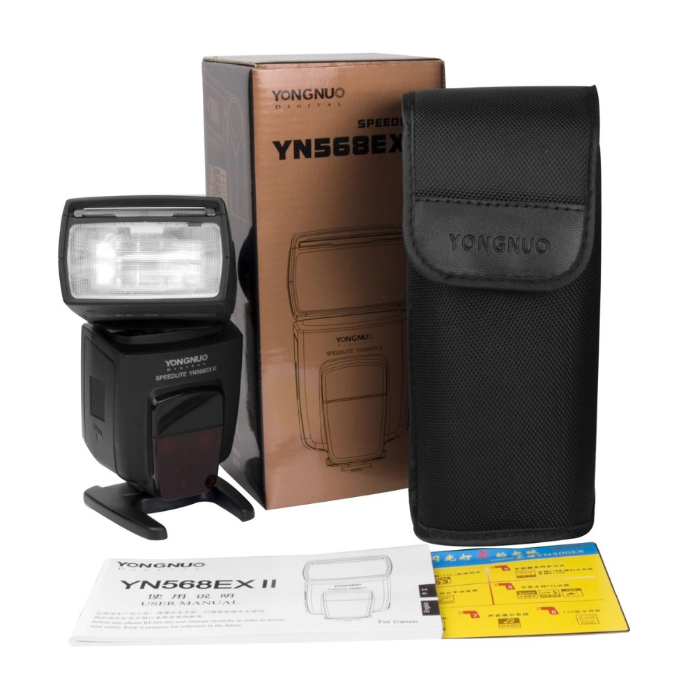 YONGNUO YN-568EX II YN568EX II Wireless Flash Speedlite With 2.4G TTL High Speed Sync For Canon 5D 60D 550D Nikon D800 yongnuo yn468 ii ttl flash speedlite with lcd display for canon