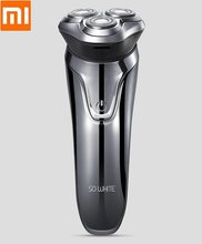 Xiaomi mijia SO WHITE 3D intelligent razor Intelligent three-knife body wash USB fast charge Electric Shaver(China)