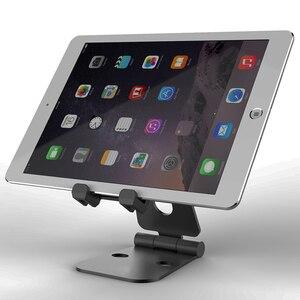 Image 3 - SeenDa Tablet Pieghevole Basamento In Alluminio Multi Angolo di Regolazione Supporto Da Tavolo Basamento Del Telefono Mobile Doppio Piegato In Metallo Stand Portatile