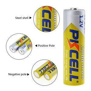 Image 4 - 8 ピース/ロットpkcell aa電池ニッケル水素 2A 2000 2600mahの 1.2v単三充電式バッテリーaa/aaaニッケル水素バッテリー充電器