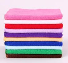 Wholesale 10 pc/lot Microfiber towel gift cleaning wipe small square 25*25