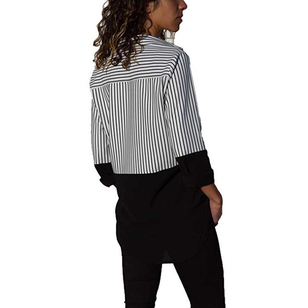Blusa poliester topy Zanzea koreański ograniczona prawdziwe Vadim Plus rozmiar darmowa wysyłka 2019 jesień koszula stałe z długim rękawem bluzka