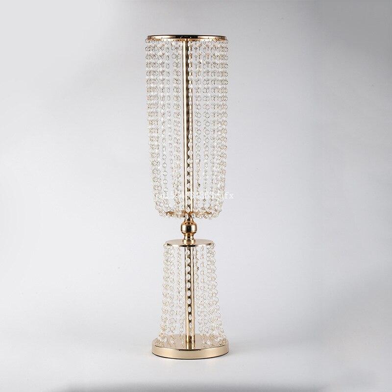 2pcs Acrylic Crystal Flower Vases Wedding Road Lead Wedding Decor Centerpiece Event Wedding Decoration for Table