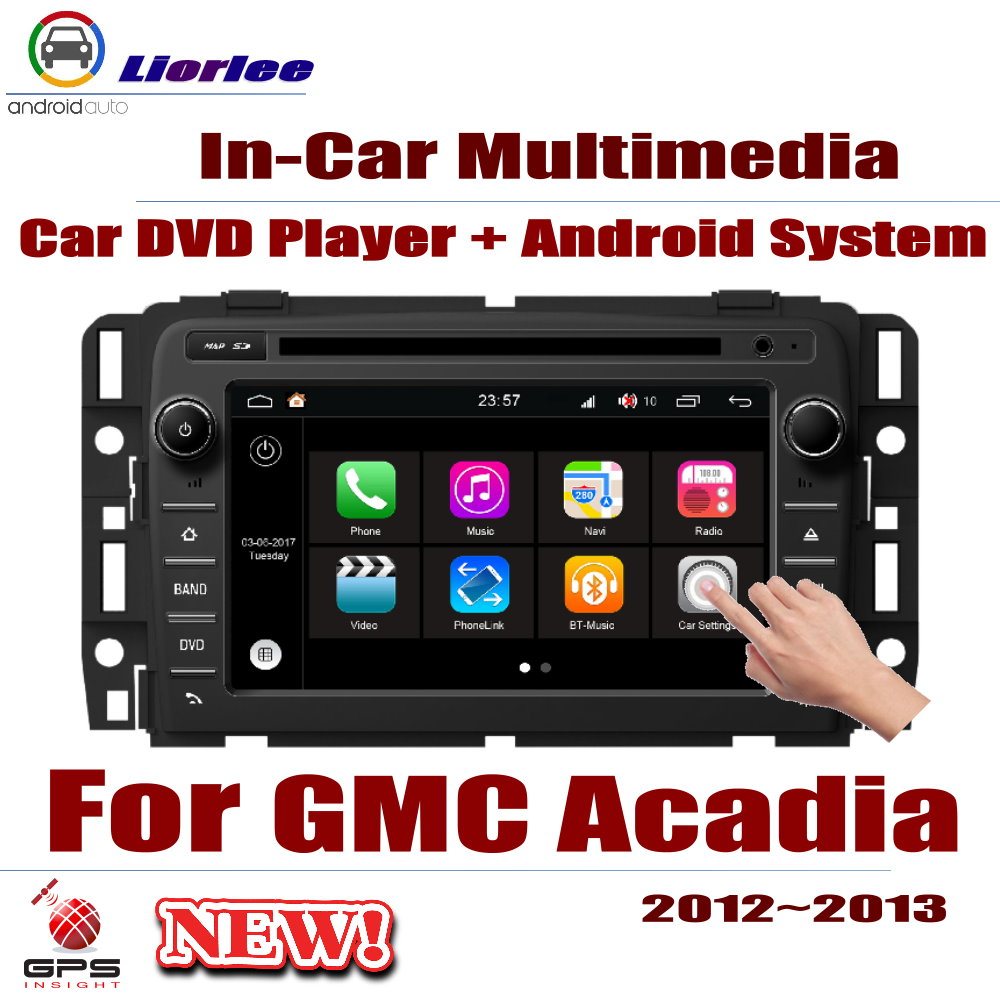 Auto GPS Navigation For GMC Acadia 2013~2016 Car Android Multimedia Player CD DVD Radio Stereo AMP BT USB SD AUX WIFI HD ScreenAuto GPS Navigation For GMC Acadia 2013~2016 Car Android Multimedia Player CD DVD Radio Stereo AMP BT USB SD AUX WIFI HD Screen