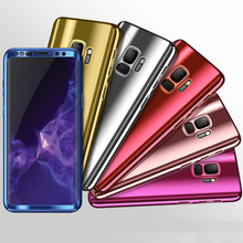 360 Degree Full Cover Case For Samsung Galaxy S9 Plus S9+ Electroplating Process Luxury Hard PC Cover For Samsung Galaxy S9 Case s9 360 degree protection hard case for samsung galaxy s9 s 9 cover shockproof case for samsung galaxy s9 plus s9 case glass